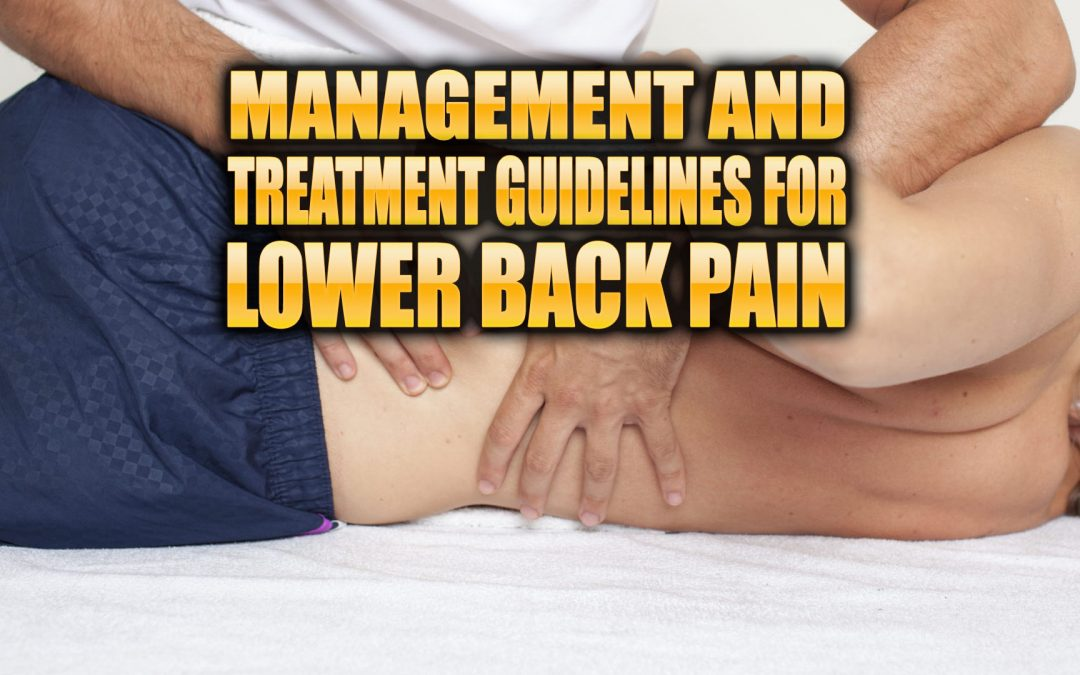 Management and Treatment Guidelines for Low Back Pain in El Paso, TX