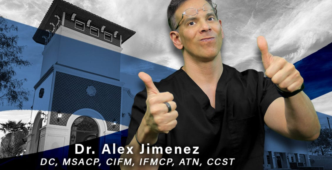 Image of Dr. Alex Jimenez with thumbs up standing in front of his office clinic.