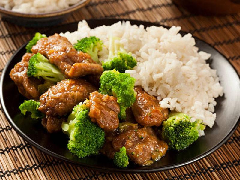Beef + Broccoli Sheet Pan with Cauliflower Rice